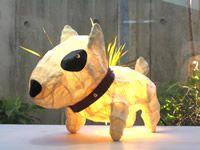Bull terrier lamp
