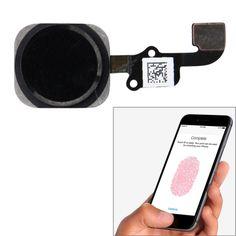 [USD2.41] [EUR2.16] [GBP1.74] Home Button Flex Cable with Fingerprint Identification Function for iPhone 6 & 6 Plus(Black)