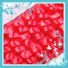 "C826 Per Yard x  6"" (Red)Ruffle Trim Satin Organza Mesh Net dress Trim. $4.99, via Etsy."