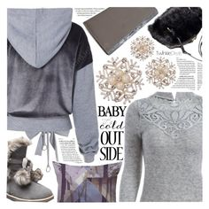 """""""Grey fall style"""" by pastelneon ❤ liked on Polyvore"""