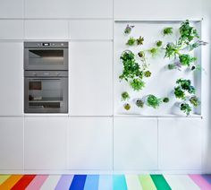This renovated Paris apartment for a fashion designer features a vertical herb…
