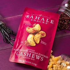 Have you tried our Pomegranate Vanilla Flavored Cashews Glazed Mix? A touch of vanilla bean and pomegranate-flavored apples balance the buttery bite of whole roasted cashews.