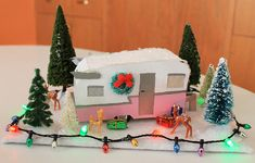 Posted by: Kate December 2015 For my final putz house design of prodded me tocreate a mini vintage travel trailer inspired by the relaunch of the 1961 Shasta Airflyte trailer last. Merry Little Christmas, Retro Christmas, Christmas Love, Vintage Holiday, All Things Christmas, Putz Houses, Gingerbread Houses, Tiny Houses, Christmas Villages