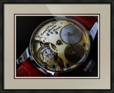 "A. Lange & Sohne Swiss Watch // Paper: enhanced matte; Glazing: acrylic; Moulding: black, belmont dark olive; Top Mat: black/gray, granite; Middle Mat: red, cabernet; Bottom Mat: tan, seaside // Price starts at $202 (Petite: 20"" x 22""). // Customize at http://www.imagekind.com/A-Lange--Sohne-Swiss-Timepiece_art?IMID=f59c96d5-ffd1-4161-90e3-0361617473b8"