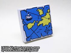 LEGO Pirates treasure map