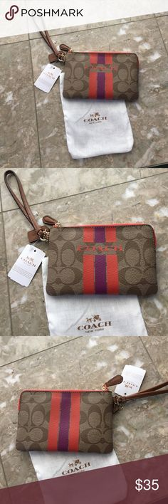 New coach wristlet Brand new with tags coach wristlet price is firm trade value is $75 Coach Bags Clutches & Wristlets