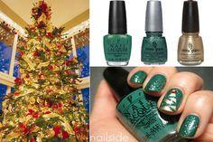 Christmas nails(: