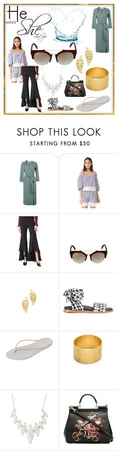 """""""Set for amazing"""" by denisee-denisee ❤ liked on Polyvore featuring Frame, Holy Caftan, Alexis, Italia Independent, Jennifer Meyer Jewelry, Marques'Almeida, IPANEMA, Maya Magal, Kendra Scott and Dolce&Gabbana"""