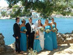 my wedding in skiathos. Greece before mamma mia was filmed there.!