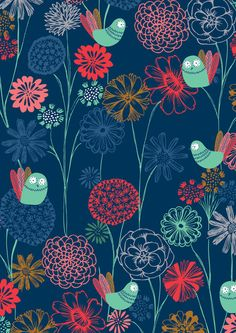 summer night floral by bethan janine