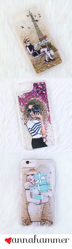 Shop Liquid Glitter Phone Cases on Etsy. Designed by anna hammer