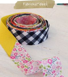 Bias tape from scraps