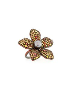 Garden of Spring and Summer Sapphire Flower Ring, Size 7 by MCL by Matthew Campbell Laurenza at Neiman Marcus.