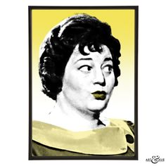 Pop art portrait of Hattie Jacques the famous matron of the Carry On films. Unframed print on 100% cotton 310gsm fine art archival paper using pigment inks