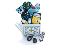 cutout, first aid biscuit tin, get well biscuits