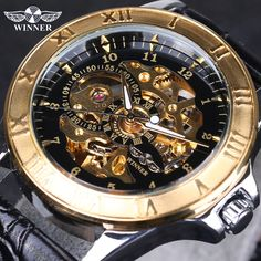17.60$  Watch now - http://aliz0f.shopchina.info/go.php?t=32620543379 - Top Selling Winner Watches Famous Brand Men's Mechanical Wrist Watch Luxury Skeletons Gold Watches Male Clock Relogio Original 17.60$ #aliexpresschina