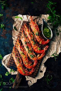 Grilled prawns by RaquelCarmonaRomero