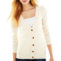 Arizona Slub Cardigan - jcpenney