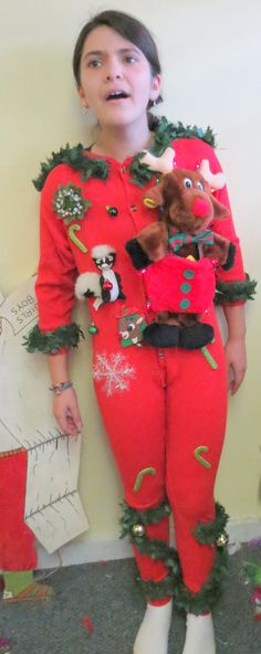 IMAGINE THE LOOK OF HORROR ON YOUR KIDS WHEN YOU GIVE THEM THIS TO WEAR AT THE FAMILY UGLY CHRISTMAS SWEATER PARTY Fun Kids Tacky Ugly Christmas Sweater Party by tackyuglychristmas