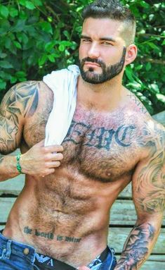 Tatted males bang bb