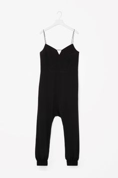COS image 2 of Silk jumpsuit in Black