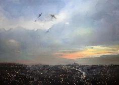 Takashi Akasaka watercolor 'sky' No4