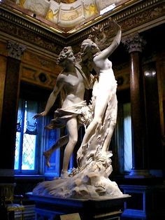 Bernini. Apollo and Daphne, housed in the Borghese Gallery, Rome, Italy