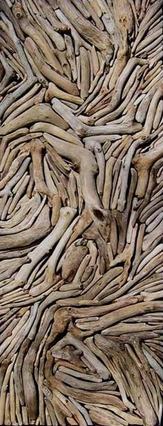 #driftwood art (collage). This would be a challenge, but fun.