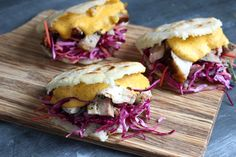 Porchetta Arepas with a Squash Mustard Cheese Sauce - The Food in My Beard