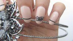 Feather flapper headband nail art
