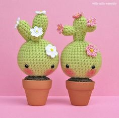 Amigurumi Cactus lol I would so do this seeing as I kill every plant EVEN cactus'