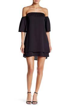 Off-the-Shoulder Meghan LA Flutter Sleeve Tunic Dress