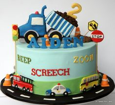 Transport Themed Cake