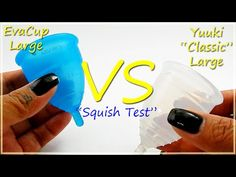 "EvaCup Lg vs Yuuki ""CLASSIC"" Lg ""Squish Test"" - #menstrualcup #EvaCup #YuukiCup #RHSquish"