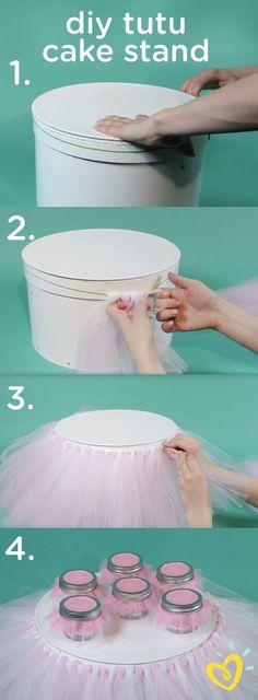 DIY Tutu Cake Stand.
