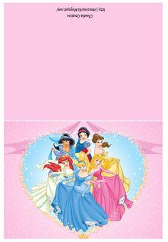 il mio angolo creativo: Cartoline Principesse Disney