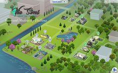 Via Sims: Build Modern Newcrest - The Sims 4 Sims 4 House Building, Sims House Plans, Sims 4 Family House, The Sims 4 Lots, Sims 4 Traits, Sims 4 Studio, Sims 4 House Design, Casas The Sims 4, Sims 4 Cc Furniture