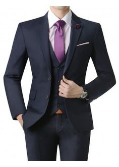 Doublju Men's 2 Button Suit Blazer Jacket Matte Dark Navy (KMOBL09). #suits #mensuit #mencloth #menclothing #doublju