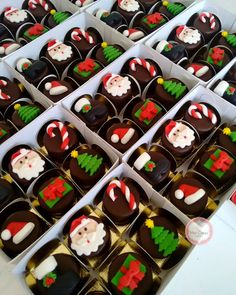 May these cookies bring you and your families a pleasant holiday! Best wishes. Mini Christmas Cakes, Christmas Cake Decorations, Christmas Sweets, Christmas Cooking, Holiday Cupcakes, Holiday Treats, Chocolate Navidad, Oreo Pops, Xmas Cookies
