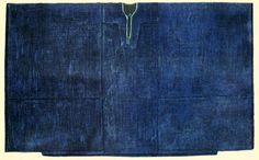 EGYPT. Tob or sebleh, wide garment for women. The material employed for this garment is usually a cotton fabric dyed blue. The only ornamentation is edging around opening for the neck and over breast-slit with coarse floss-silk stitching. Wealthy women wear black cotton garments interwoven with silk stripes, or also taffeta and watered-silk garments. Tob shaped garments are worn between Egypt and Mesopotamia.