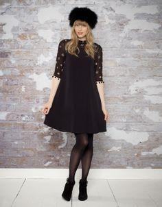 Sofya Embellished Dress | Black | Monsoon