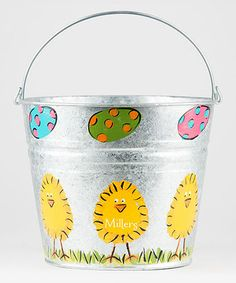 Another great find on #zulily! Easter Chicks Personalized Pail #zulilyfinds