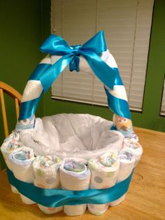 Hey-low lovelies!   I thought I'd share with you guys how I made my diaper basket. Its a great way to jazz up any basket that you have for a...