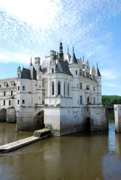 The Most Beautiful Castles in Europe - Chateau de  Chenonceau, on the River Cher, France; stated, a, former, pinner.
