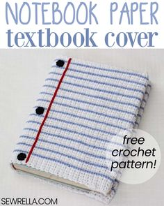 This textbook cover is so cute and easy to make! It's a great project to keep busy while you're waiting for the kiddos to go back to school! Click this pin to fins other back to school projects. #crochet #crochetbookcover #bookcover #textbookcover #howto #backtoschool #sewrella #freepattern #easypattern #forbeginners #diy #crochetforkids #schoolsupplies #crochetforschool