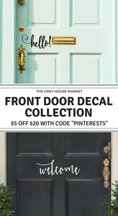 Shop from our collection of front door decals and much more. Take $5 off your purchase of  $20 or more with code PINTEREST5.