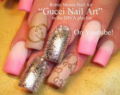 """""""gucci nail art"""" """"gucci nails"""" """"designer nail art"""" """"nail art"""" """"robin moses nail art"""" """"couture nail art"""""""