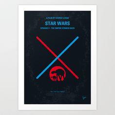 No155 My STAR WARS Episode V The Empire Strikes Back minimal movie poster Art Print by Chungkong - $18.00