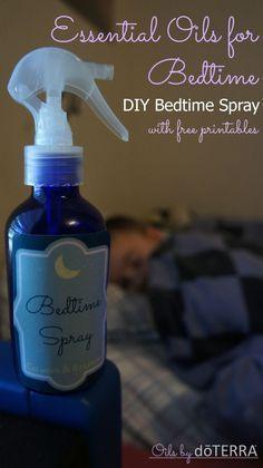 Essential Oils for Bedtime: Bedtime/ Sleepy Spray Recipe.  www.onedoterracom... www.facebook.com/...