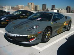 "Ferrari F430 ""GUMBALL 3000."" Never thought I'd see a cool paint job like this on a Ferrari"